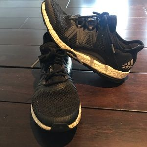 Black and white adidas women's ultra boost
